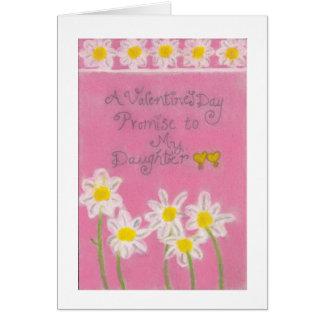 """Cartão Uns namorados doces"""" promessa"""" a minhas filhas"""