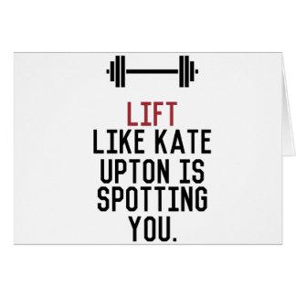 Cartão upton do bodybuilder_kate