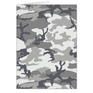 Cartão urbano da camuflagem