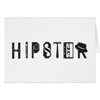 Cartão urbano Indie da tipografia do hipster