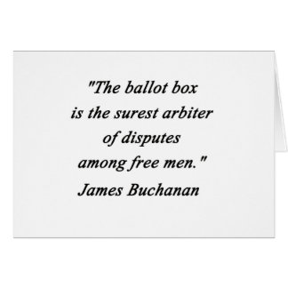 Cartão Urna de voto - James Buchanan