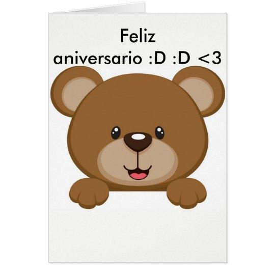 Cartão ursinho