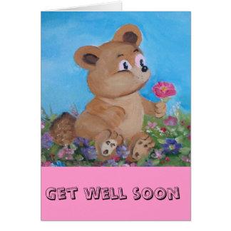 Cartão urso azul