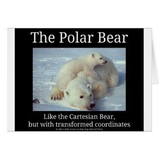 Cartão Urso cartesiano do urso polar