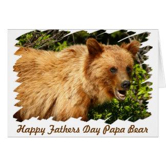 Cartão Urso da papá