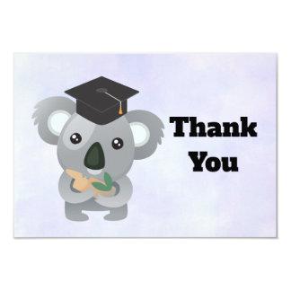 Cartão Urso de Koala bonito no obrigado do boné de