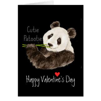Cartão Urso de panda do divertimento do Cutie Patootie