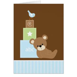 Cartão Urso de ursinho azul