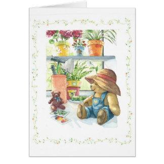 Cartão Urso de ursinho do jardineiro