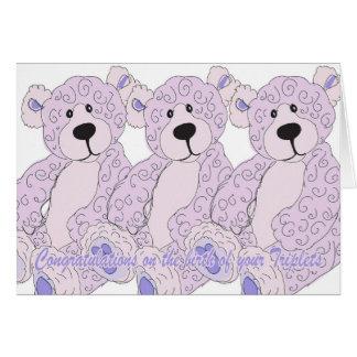 Cartão Urso de ursinho dos parabéns das objectivas