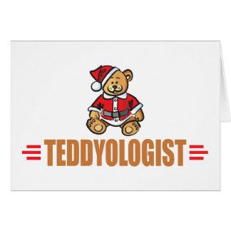 Cartão Urso de ursinho engraçado do Natal