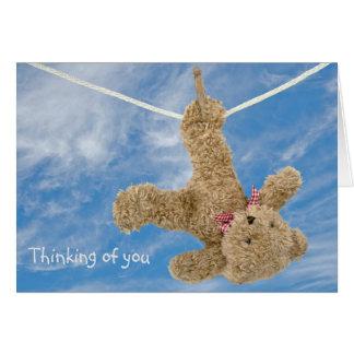 Cartão Urso de ursinho que pensa de você