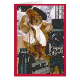 Cartão Urso do fotógrafo