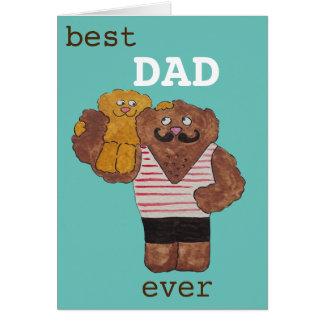 Cartão Urso do pai do homem forte do circo do pai do