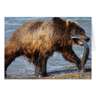 Cartão Urso ido pescar o notecard