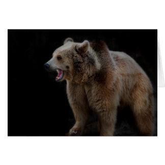 Cartão Urso mal-humorado!