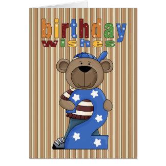 Cartão Urso ò do divertimento. O aniversário deseja o