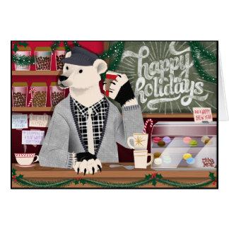Cartão Urso polar boas festas