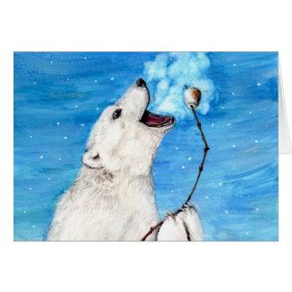 Cartão Urso polar com Marshmallow brindado