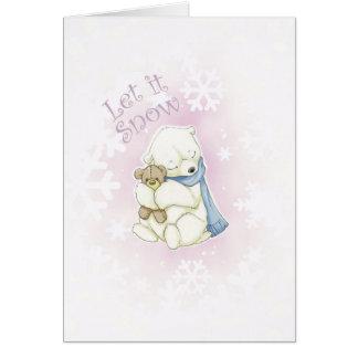 Cartão Urso polar e urso de ursinho