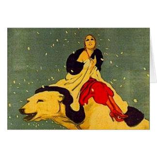 Cartão Urso polar Padua do art deco de Marcello Dudovich