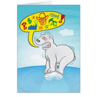 Cartão Urso polar que diz as palavras más que estão no