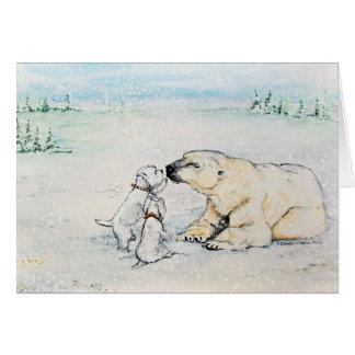 Cartão Urso polar Westies