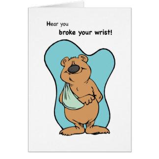 Cartão Urso quebrado do pulso