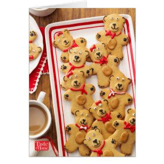 Cartão Ursos da manteiga de amendoim