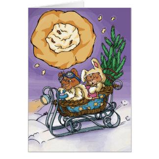 Cartão Ursos de ursinho do Natal