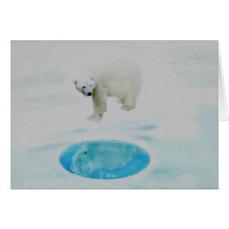Cartão Ursos polares apenas