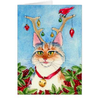 Cartão Urze o reincat cor-de-rosa-cheirado