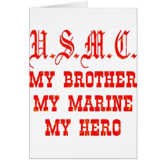 Cartão USMC meu irmão meu fuzileiro naval meu herói