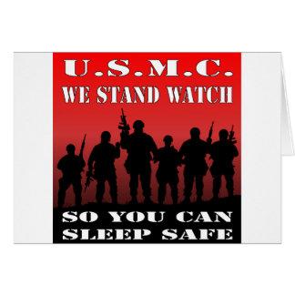 Cartão USMC nós estamos o relógio assim que você pode