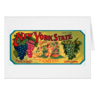 Cartão Uvas dos Estados de Nova Iorque