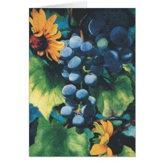 Cartão Uvas e Susans de olhos pretos