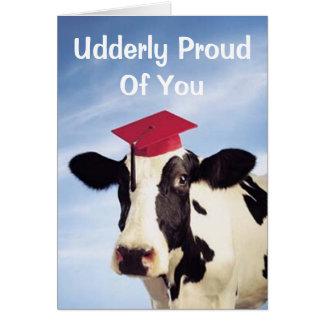 Cartão Vaca da graduação, Udderly orgulhoso de você