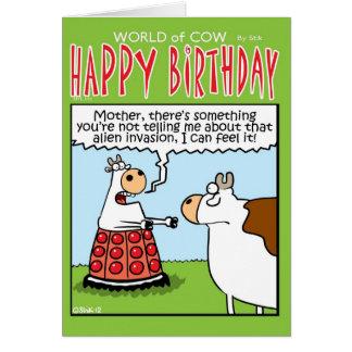 Cartão Vaca da invasão!