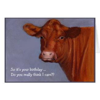 Cartão Vaca de carne de Hereford: Eu importo-me com seu