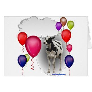 Cartão vaca de fala do aniversário