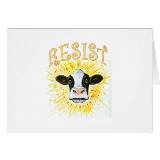 Cartão Vaca de leiteria da resistência