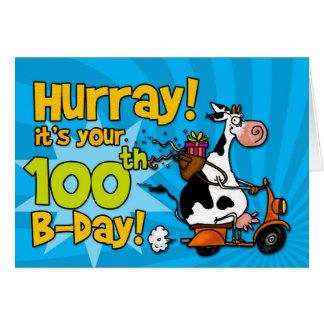Cartão vaca do patinete do BD - 100