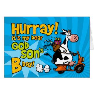 Cartão vaca do patinete do BD - filho do deus