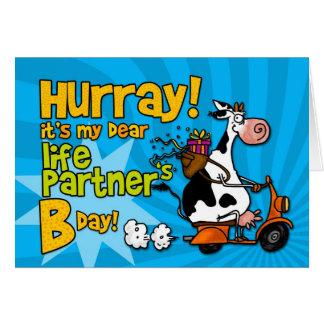 Cartão vaca do patinete do BD - sócio da vida