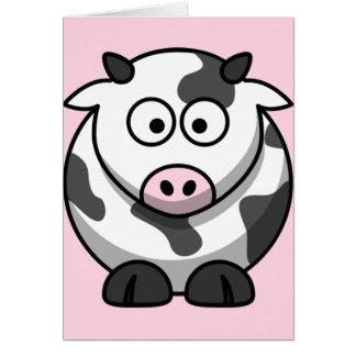 Cartão Vaca engraçada bonito