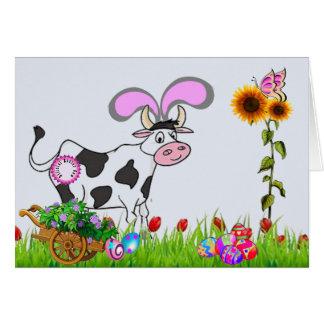 Cartão Vaca oficial da páscoa