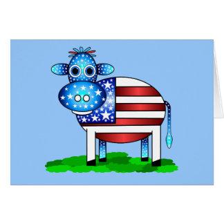 Cartão vaca patriótica