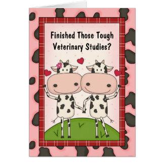 Cartão Vacas bonitos dos desenhos animados do formando da