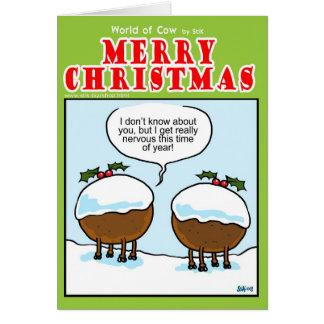 Cartão Vacas do pudim do Natal