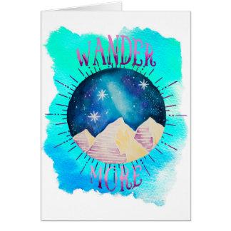 Cartão Vagueia mais - a aguarela aciganada do Wanderlust